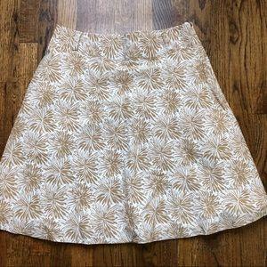 Lands End Floral Skirt